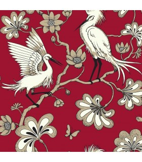 FB1453 - Florence Broadhurst Wallpaper by York - Egrets