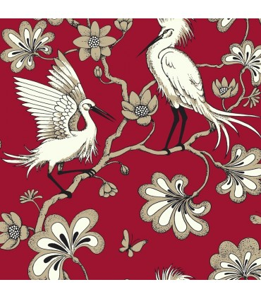 FB1453 - Florence Broadhurst Wallpaper by York - Egrets