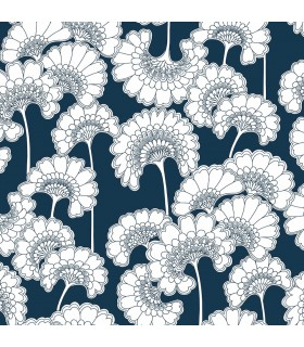 FB1465 - Florence Broadhurst Wallpaper by York - Japanese Floral