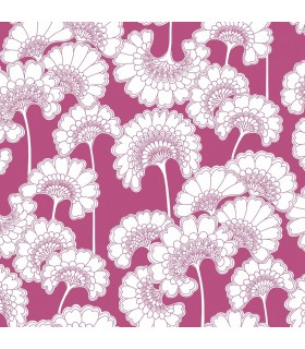 FB1467 - Florence Broadhurst Wallpaper by York - Japanese Floral