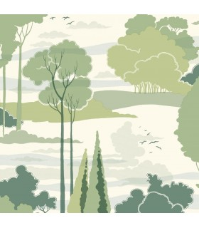 FB1480 - Florence Broadhurst Wallpaper by York - Macarthur Park