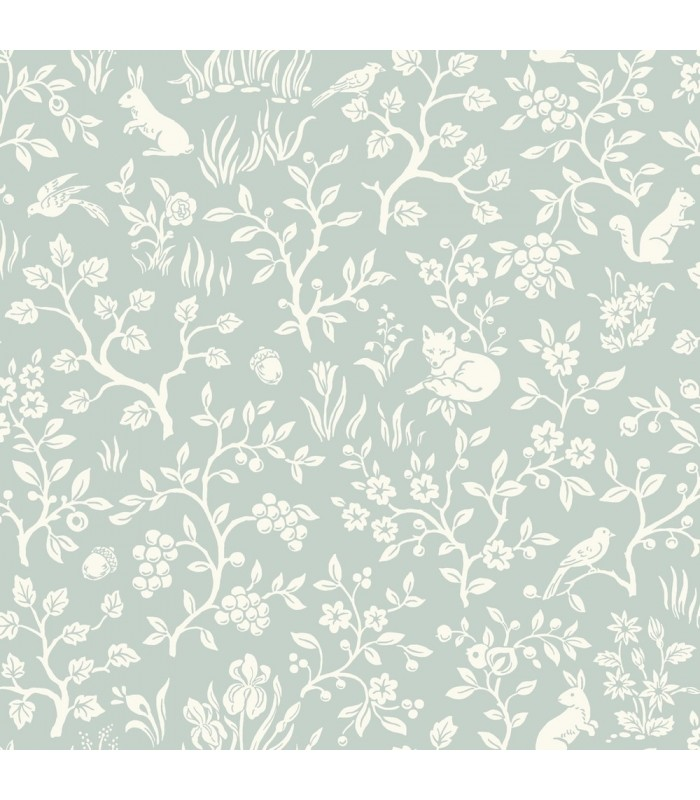 MK1111 - Magnolia Home Artful Prints and Patterns Wallpaper-Fox and Hare