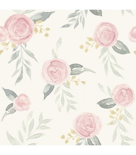 MK1125 - Magnolia Home Artful Prints and Patterns Wallpaper-Watercolor Roses