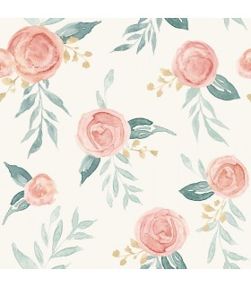 MK1126 - Magnolia Home Artful Prints and Patterns Wallpaper-Watercolor Roses