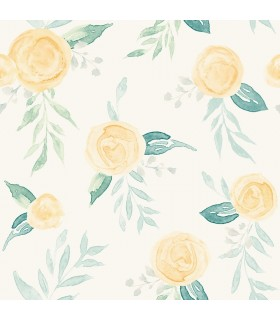 MK1127 - Magnolia Home Artful Prints and Patterns Wallpaper-Watercolor Roses