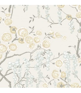 2785-24833 - Signature Wallpaper by Sarah Richardson-Peony Tree