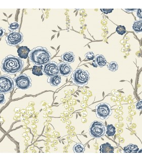 2785-24830 - Signature Wallpaper by Sarah Richardson-Peony Tree