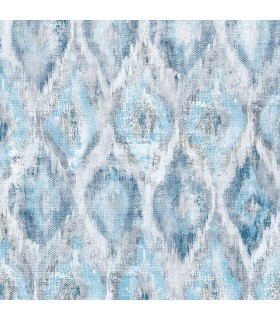 2809-SH01104 - Geo Wallpaper by Advantage-Gilboa Ikat