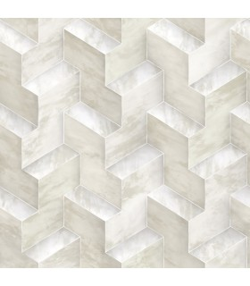DI4726 - Dimensional Artistry Wallpaper by York-Step To It Geometric