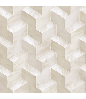 DI4727 - Dimensional Artistry Wallpaper by York-Step To It Geometric