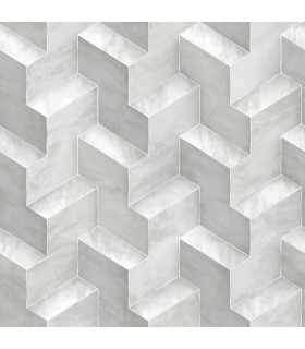 DI4728 - Dimensional Artistry Wallpaper by York-Step To It Geometric