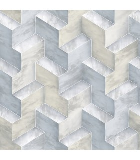 DI4729 - Dimensional Artistry Wallpaper by York-Step To It Geometric