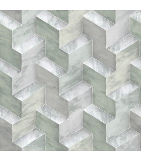 DI4730 - Dimensional Artistry Wallpaper by York-Step To It Geometric