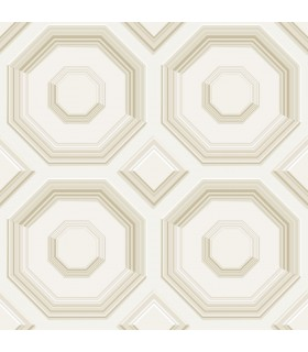 DI4740 - Dimensional Artistry Wallpaper by York-Coffered Octagon