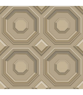 DI4741 - Dimensional Artistry Wallpaper by York-Coffered Octagon
