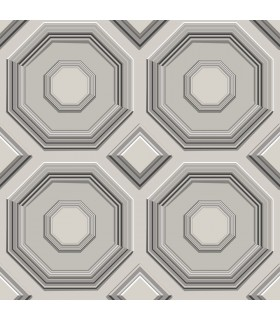 DI4742 - Dimensional Artistry Wallpaper by York-Coffered Octagon