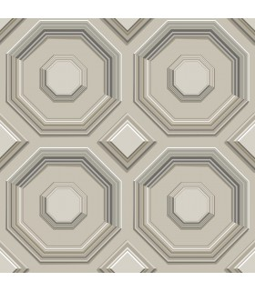 DI4743 - Dimensional Artistry Wallpaper by York-Coffered Octagon