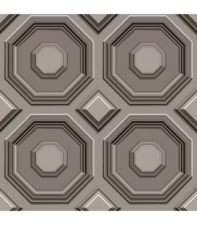 DI4745 - Dimensional Artistry Wallpaper by York-Coffered Octagon