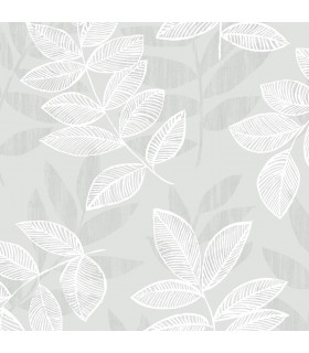 2793-87321 - Celadon Wallpaper by A-Street Prints-Chimera Flocked Leaf