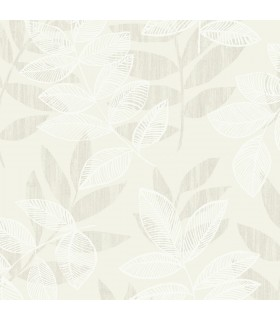 2793-87320 - Celadon Wallpaper by A-Street Prints-Chimera Flocked Leaf