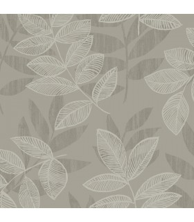 2793-87322 - Celadon Wallpaper by A-Street Prints-Chimera Flocked Leaf