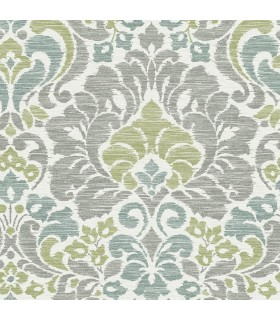 2793-24733 - Celadon Wallpaper by A-Street Prints-Garden of Eden Damask