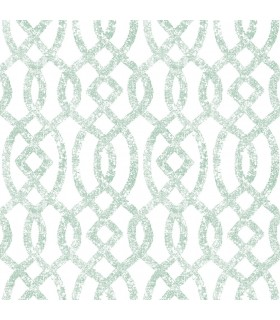 2793-24726 - Celadon Wallpaper by A-Street Prints-Ethereal Trellis