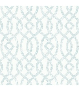 2793-24723 - Celadon Wallpaper by A-Street Prints-Ethereal Trellis