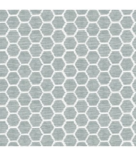2793-24710 - Celadon Wallpaper by A-Street Prints-Aura Honeycomb