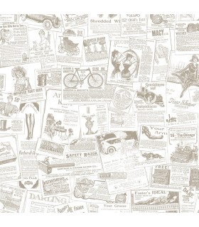 FH37500 - Farmhouse Living Wallpaper by Norwall-Newspaper