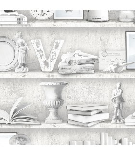 FH37505 - Farmhouse Living Wallpaper by Norwall - Curio Cabinet