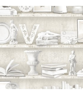 FH37507 - Farmhouse Living Wallpaper by Norwall - Curio Cabinet