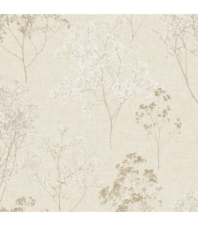 FH37508 - Farmhouse Living Wallpaper by Norwall -Queen Anne's Lace