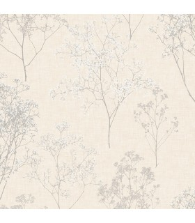 FH37509 - Farmhouse Living Wallpaper by Norwall -Queen Anne's Lace