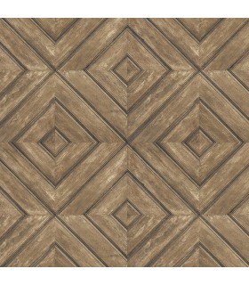 FH37512 - Farmhouse Living Wallpaper by Norwall -Wood Tile