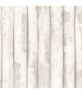 FH37535 - Farmhouse Living Wallpaper by Norwall -Log Cabin