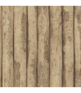 FH37536 - Farmhouse Living Wallpaper by Norwall -Log Cabin