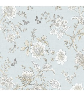 FH37537 - Farmhouse Living Wallpaper by Norwall -Butterfly Toile