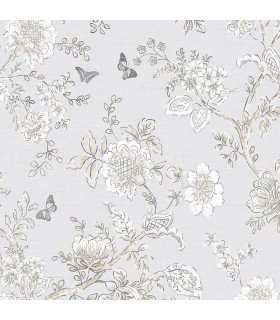 FH37538 - Farmhouse Living Wallpaper by Norwall -Butterfly Toile