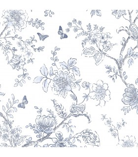 FH37539 - Farmhouse Living Wallpaper by Norwall -Butterfly Toile