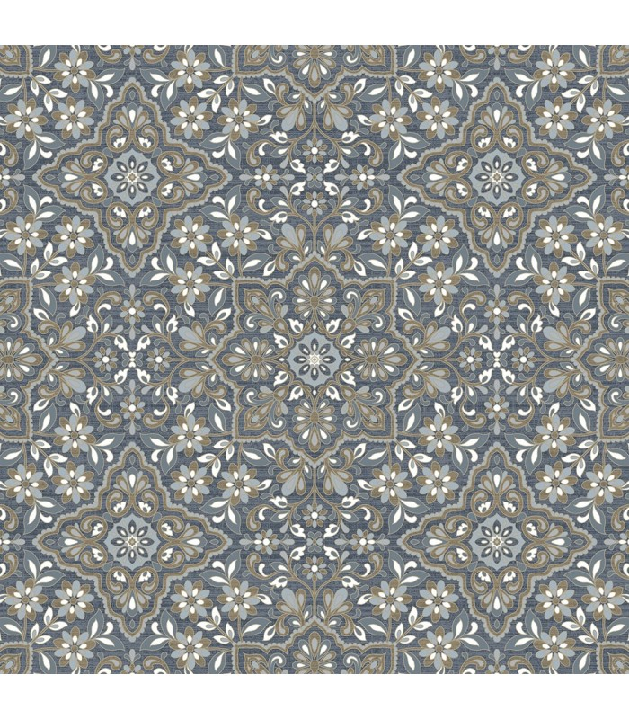 FH37542 - Farmhouse Living Wallpaper by Norwall -Floral Tile