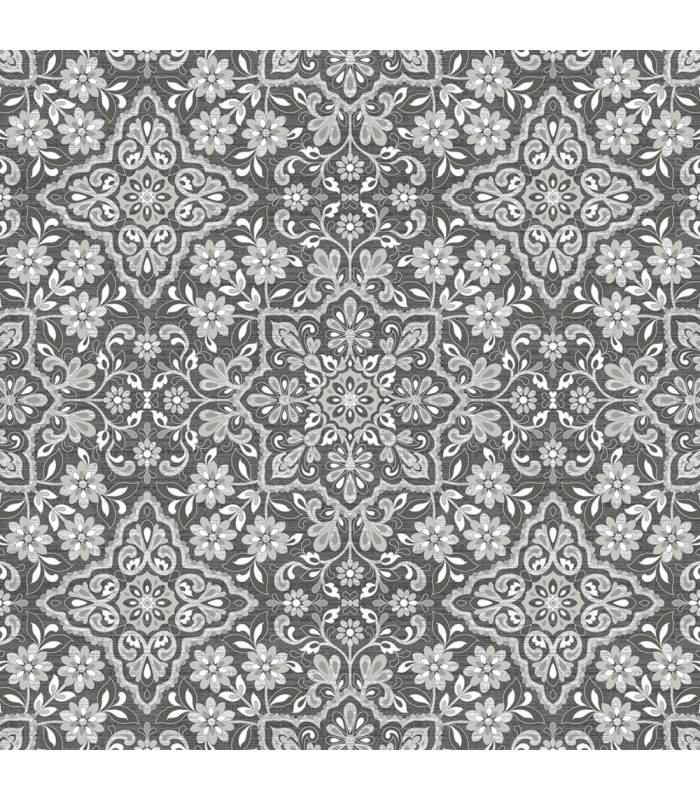 Fh37543 Farmhouse Living Wallpaper By Norwall Floral Tile Wallpaper The Home