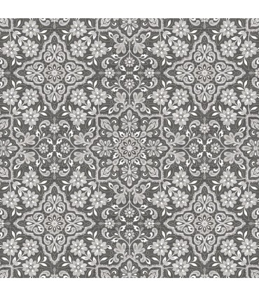 FH37543 - Farmhouse Living Wallpaper by Norwall -Floral Tile