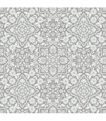 FH37544 - Farmhouse Living Wallpaper by Norwall -Floral Tile