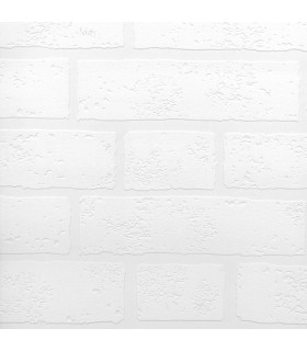 2780-99423 - Paintable Solutions 5 Wallpaper by Brewster - Bridgers Paintable Brick