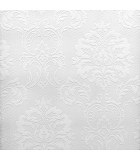 2780-32808 - Paintable Solutions 5 Wallpaper by Brewster -Plouf Damask