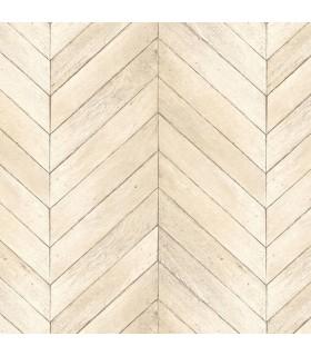 G67999 - Organic Textures Wallpaper by Patton-Herringbone Wood Slats