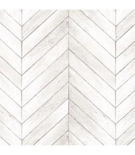 G68000 - Organic Textures Wallpaper by Patton-Herringbone Wood Slats