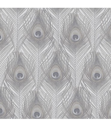 G67977 - Organic Textures Wallpaper by Patton-Peacock Feathers