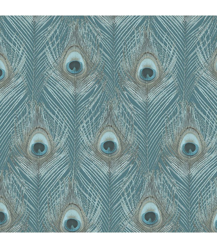 G67978 - Organic Textures Wallpaper by Patton-Peacock Feathers